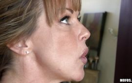 Astounding mature sweetheart Shayla Laveaux is an eager perfect tit fang rider
