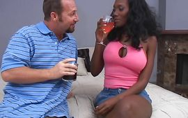 Magical housewife Nyomi Banxxx getting fucked by her stud from the back