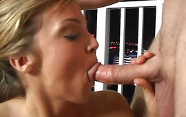 Sensual blond Brandi spreads her legs for the experienced boyfriend's sausage