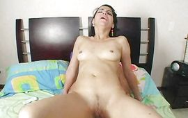 Lusty mature cutie Marianna Delgado lets paramour grope her