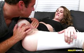 Sinful brown-haired woman Jordyn Eve getting her moist snatch donga dipped