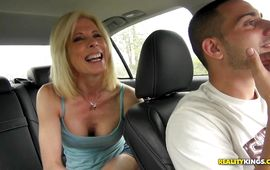Mouthwatering blond milf Jodie Stacks is concupiscent and ready for some wild banging