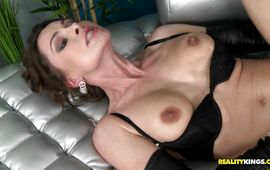 Sensational Nora Noir is incredible and reaches a huge large o
