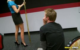 Playsome housewife Dallas Diamondz gets greater amount rod than she can handle