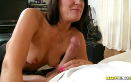 Mouthwatering Bobbi Brixton is happy by her buddy's thick shaft