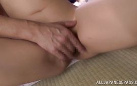 Sultry busty mature girlfriend feels fat shlong entering mouth pussy