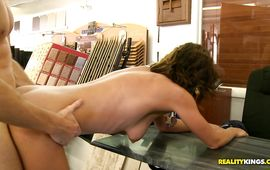 Awesome mature brown-haired Willow gets thoroughly doggy styled