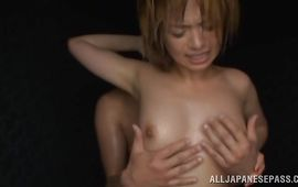 Cute mom Rika Hoshimi has passionate sex with her experienced dude