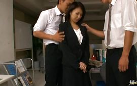 Insatiable aged Reiko Ishino is fucking playmate she loves a lot like a real pro