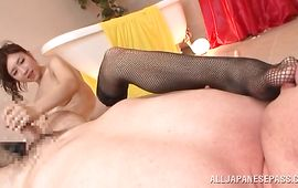 Overwhelming mature Arisa Aizawa with massive tits gets a giant electrifying agonorgasmos