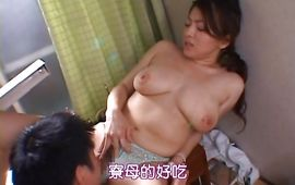 Pretty older floosy Reiko Yamaguchi with large tits enjoys sucking a large and pulsating pipe