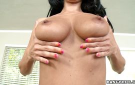 Elegant housewife Ava Addams with massive tits enjoys riding a pulsating schlong