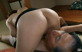 Chic Mai Hanano with great tits slams her pierced vagina on a stiff dick