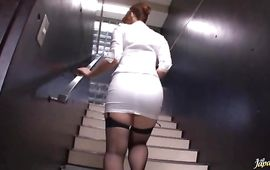 Beautiful mature Ai Sayama with impressive tits cant wait to sit on his powerful lever