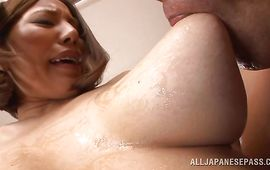 Appealing mature Ruri Saijo spreads her legs for amoral fucker