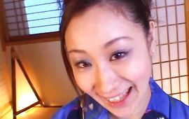 Startling Shizuku Morino with wet babe pot receives a shaft