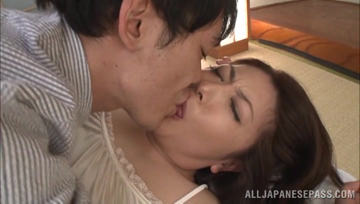 Insatiable big boobed housewife Ayano Murasaki could feel playmate's hardness inside her wet copher