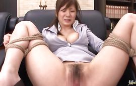 Lusty mature girlie Yuma Asami with large tits is gangbanged as hard as possible