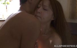 Mouthwatering Manami Suzuki gets intensely drilled by a dissolute boyfriend