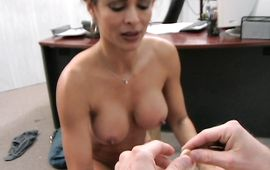 Mouthwatering latin brown-haired Monique Fuentes is stripped and she's looking for some loving