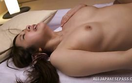Marvelous big titted mature Asami Nanase asks her fellow to poke her cunt hard