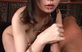 Passionate mature Hikaru Kirameki is always in the mood to give a blow job to a stud who needs it