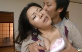 Alluring Ayane Asakura with large tits rides a large pole like a pro she is