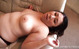 Lusty busty mature woman cheerfully offers her nana for fucking