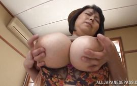 Remarkable housewife Misuzu Tomizawa is engulfing pal's meat and getting drilled