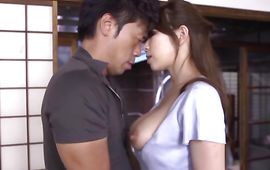 Magnificent beauty Yuuka Minase with curvy tits is crazy to jump on giant dinky