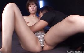 Exquisite older girl Nanami Kawakami rides and cums so strong