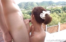 Inviting mature Kaho Kasumi jumps on giant dong