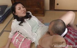 Worshipped big breasted mature Sophia Takigawa getting her cunt annihilated dearly