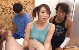 Seductive big titted mature beauty Reiko Nakamori is sucking donga free of any charge 'cuz she is not a prostitute