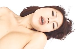 Fantastic whore Rei Himekawa with great tits rubs her massive tits on her dude's meat