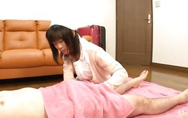 Stupendous bosomed mature Riho Hoshiyama and fucker seem like they want to make love with every other