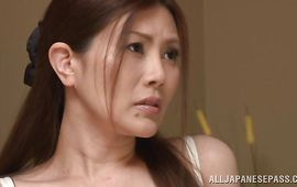 Succulent older Kiriko Kasumi gets intensely doggy styled