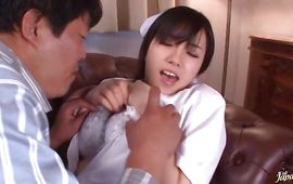 Inviting playgirl Azusa Nagasawa with great tits got slammed the way she always wanted