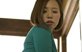 Pungent busty milf Ruri Saijou shows her large juicy tits previous to being fucked