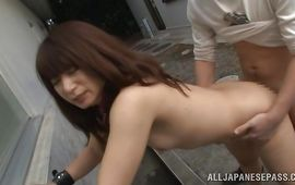 Lusty mom Naomi Sugawara gives her handsome pal an intense oral stimulation
