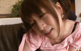 Wicked big titted girlfriend Nozomi Hazuki and a pal are fucking quite often while no one is watching