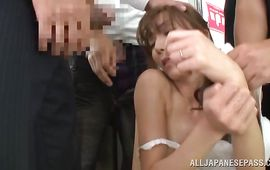 Sweet perfection Shiho is enjoying while her fucker is shoving his huge cock in her