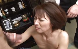 Remarkable older Hisae Yabe fiercely rides a firm prick