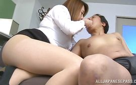 Stupendous older bombshell Yumi Kazama with big tits is about to get drilled hard
