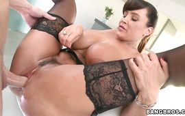 Magical older brown-haired Lisa Ann gets fucked thoroughly