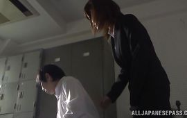 Worshipped aged Rina Ishihara likes to be fucked from the back