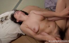 Ambitious older Rie Takahashi bangs wildly with her paramour