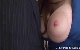 Hot big breasted mature playgirl JULIA is cheating on her husband with stud he knows