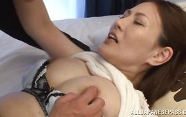Aphrodisiac mature beauty Kiriko Kasumi receives a rough plowing from her fella