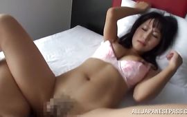 Staggering gf Marie Kimura yells with joy whilst riding donga